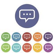 Stock Illustration of Talk flat icon