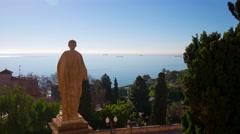 Spain tarragona hill view on mediterranean sea 4k time lapse Stock Footage