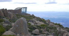 Mount Wellington Tasmania Observation Tower Stock Footage