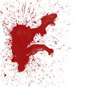 Blood Splat on White - stock illustration