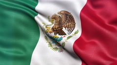 4K Flag of Mexico seamless loop Ultra-HD Stock Footage