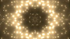 Abstract gold background fractal sun. Stock Footage