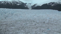 Glacier, Land of Fire, aerial shot pt 2 Stock Footage