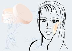 Face moisturiser Stock Illustration