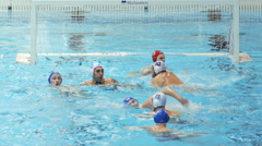 Water Polo Score 2 Stock Footage