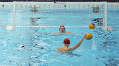 Water Polo Goalkeeper Training - stock footage