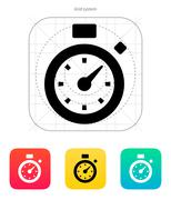 Stopwatch icon - stock illustration