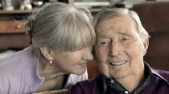 Older couple in love Stock Footage