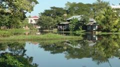 A lake,Bhamo,Burma Stock Footage