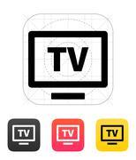 Flatscreen TV icon. Vector illustration - stock illustration