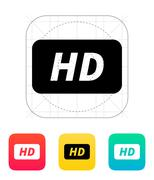 Stock Illustration of High definition icon
