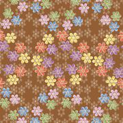 Brown pattern - stock illustration