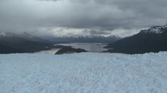 Glacier, Land of Fire, aerial shot pt 5 Stock Footage
