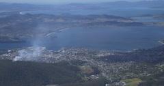 Mount Wellington Tasmania smoke on the hill Stock Footage