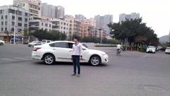 Shenzhen, China: City Road Traffic Stock Footage