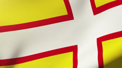 Dorset flag waving in the wind. Looping sun rises style.  Animation loop Stock Footage