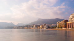 Spain day light calpe coast view 4k time lapse Stock Footage