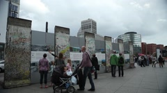 Memorial of the Berlin Wall - stock footage