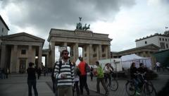 Pariser Platz - stock footage