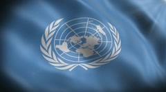 Flag United Nations Stock Footage