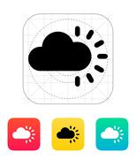 Cloudy weather icon - stock illustration