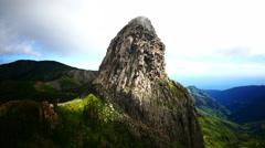 4K UHD Unesco Los Roques Parque Nacional Garajonay National Park La Gomera Stock Footage