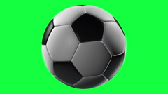 Soccer Ball, loop seamless, isolated on green screen Stock Footage
