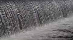 Large flow of water, waterfall Stock Footage