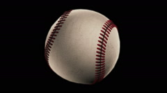 BaseBall, loop seamless, isolated black backgraund Stock Footage