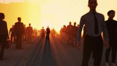 Group of people waiting in line Stock Footage