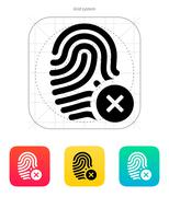 Fingerprint rejected icon Stock Illustration