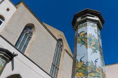 Cloister St. Chiara Stock Photos