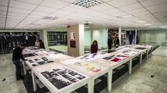 Timelapse Photo Exhibition Stock Footage