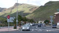 4K UHD San Sebastian town n Traffic La Gomera Canary islands Spain Stock Footage