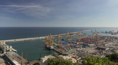 Timelapse - Barcelona Commercial Port Stock Footage