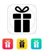 Gift box icon Stock Illustration
