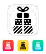 Gifts icon - stock illustration