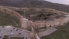 Ancient fortress Narin-kala in Derbent. Russia. Aerial video. - stock footage