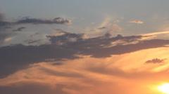Darkening on sunset side sky Stock Footage