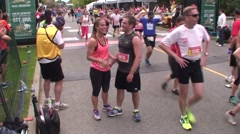 The Tamarack Ottawa Race Weekend marathon race. This is the finish line. Stock Footage