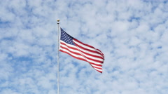 American flag swaying in the wind Stock Footage
