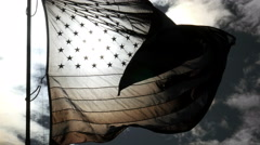 US flag backlit Stock Footage