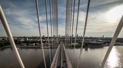 Warsaw bridge timelapse Stock Footage