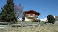 Chalet near Saint-Martin village. Stock Footage