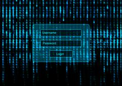 Conceptual Screen background with login window Stock Illustration