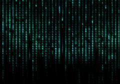Matrix conceptual background - stock illustration