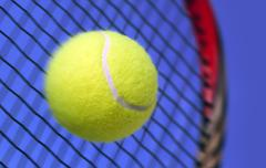 Ball and Racket Stock Photos