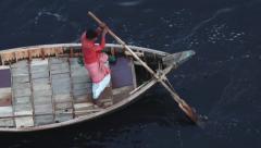 Residents of Dhaka cross Buriganga river in Dhaka, Bangladesh. Stock Footage