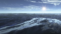 3d underwater ocean and reflection caustic - stock footage