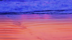 Colorful waves on a beach No.1 Stock Footage